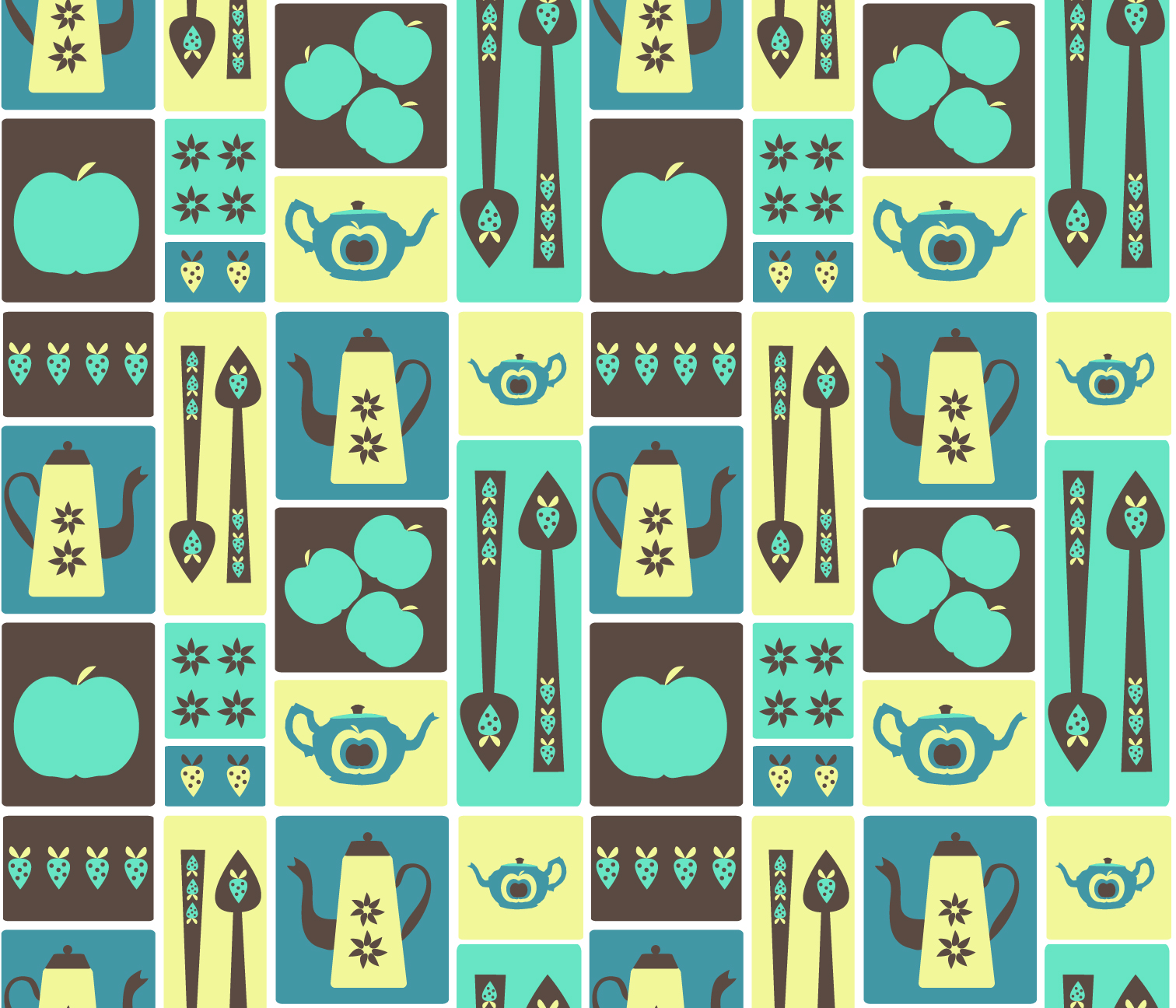 Retro Kitchenalia Fabric Designs