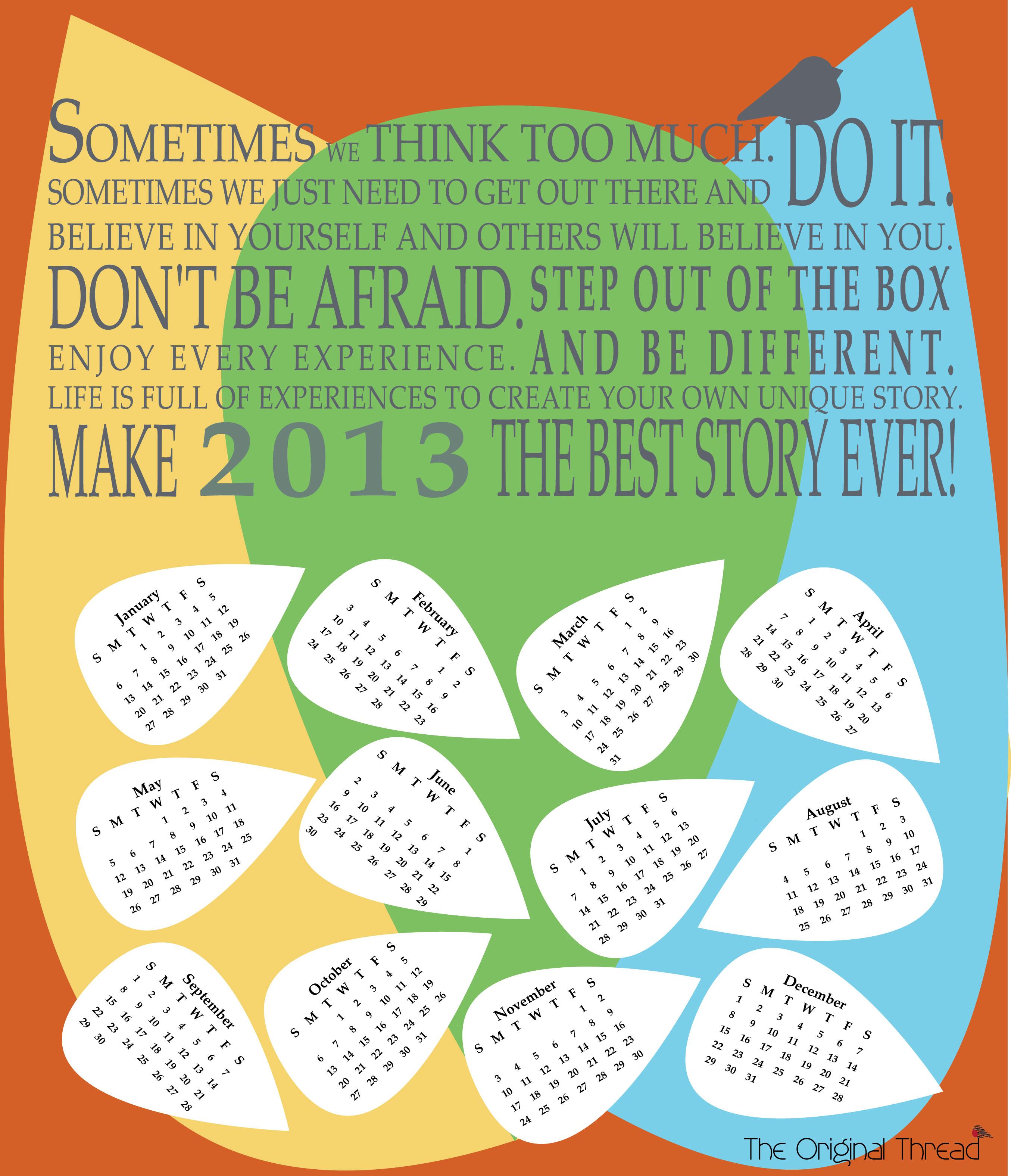 Calendar Design Quote : Desk calendar cotton mini asia on desk inspirational cadars