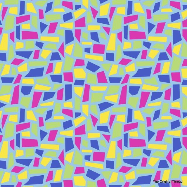 Spring Mosaics Print Blue