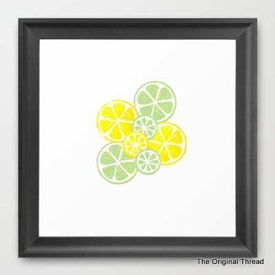 LemonLimeSlicesFramedPicture