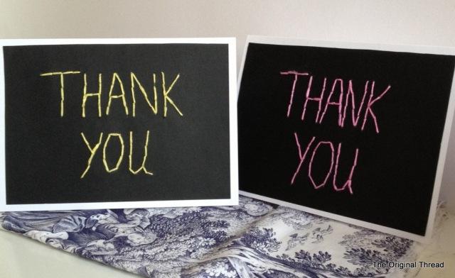 Stitched Thank You cards