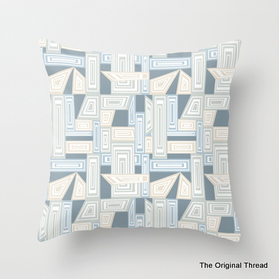 Abstract Geometric Pastels Cushion