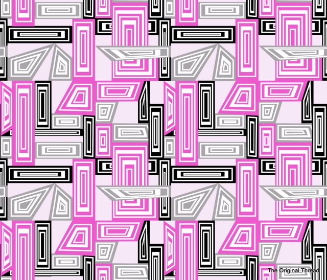 abstract geometric pinks c