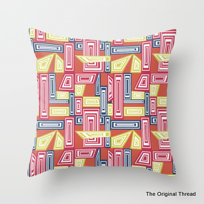 Autumn Abstract Geometrics Cushion