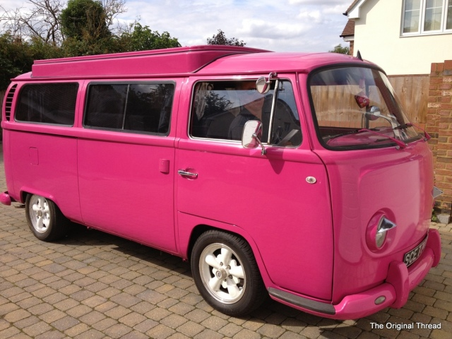 Hot Pink VW Camper