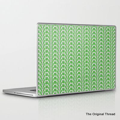 snow drops green_laptop skin