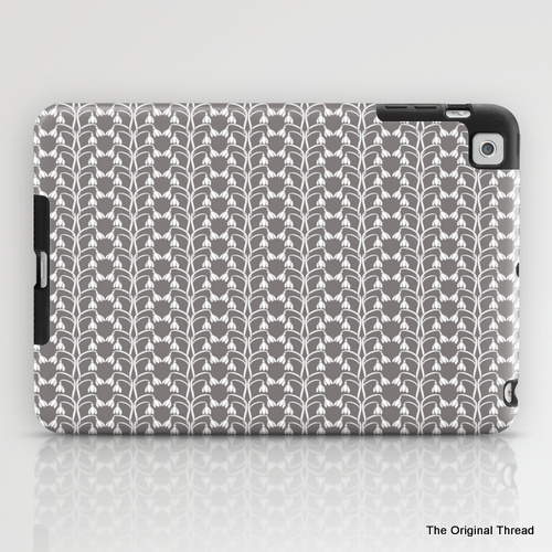 snow drops grey_ipad case-001