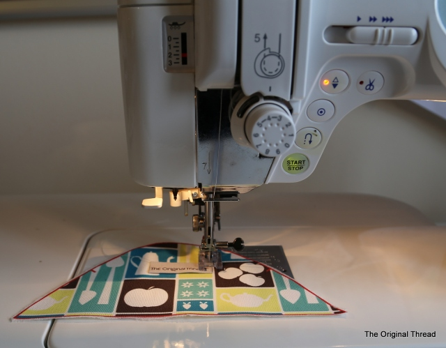 stitching label in