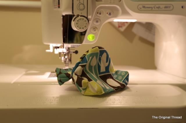 Stitching up lining