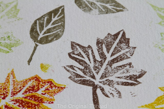 stamped leaves close up (1 of 1)
