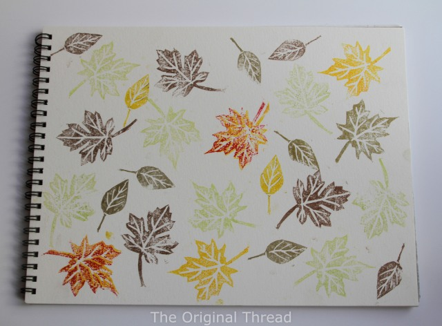stamped leaves on sketch pad (1 of 1)