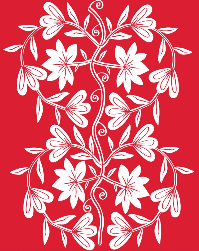 chinese paper cutting flowers Society6 t'shirt