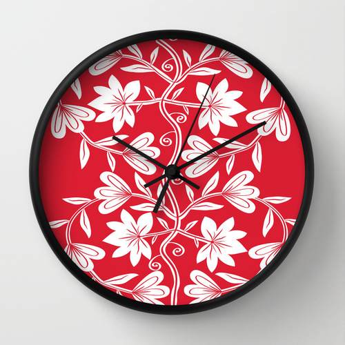 Floral Love Wall Clock