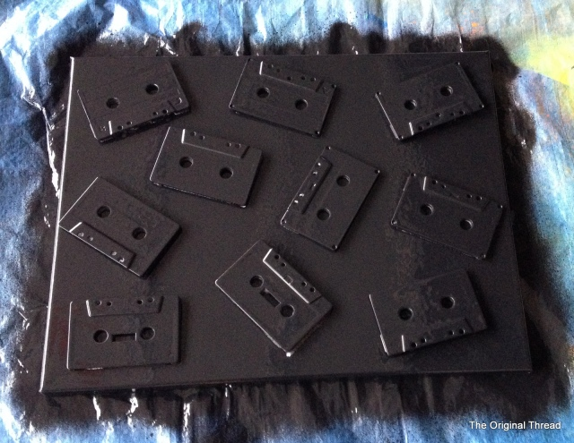 cassette tape spray painting