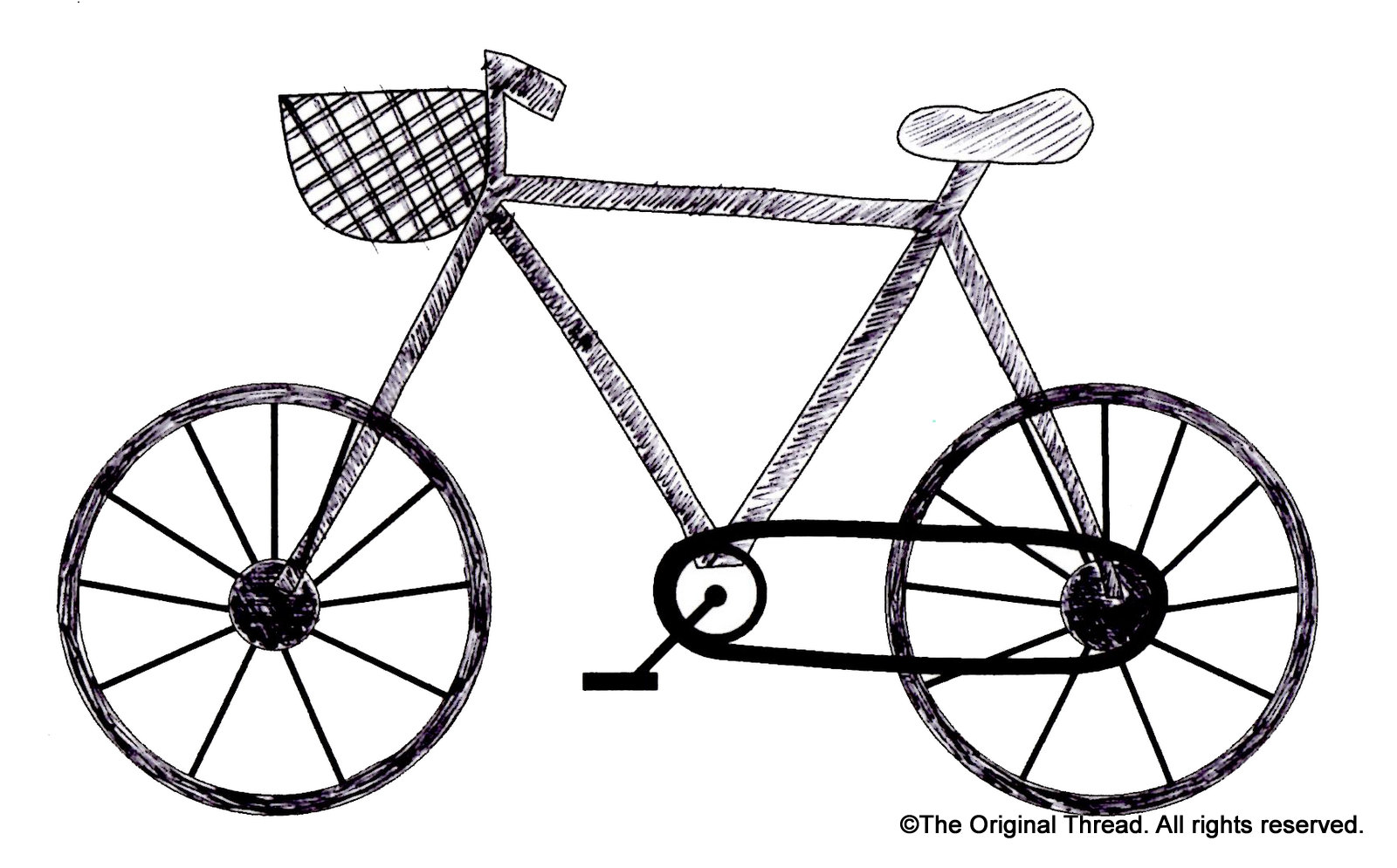 It's just a picture of Intrepid Bike Drawing Simple