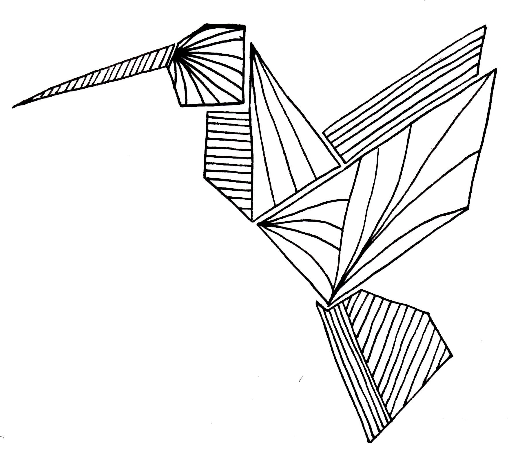 origami bird - origami bird easy - origami bird instructions ... | 1559x1757