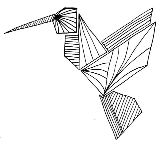 hummingbird origami
