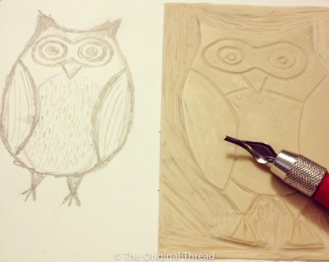 Owl Sketch Carving